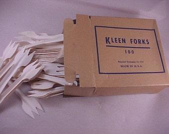 Kleen Forks Brand Disposable Cardboard Forks