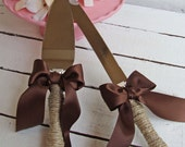 Cottage Chic Rustic Wedding Cake Server and Knife Set -Engraving Optional- WEDDING Table Settings - Select Colors To Match Your Theme