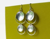 Sterling silver dangle earrings Long Sterling silver earrings Eco Friendly artisan jewelry drop chandelier earrings
