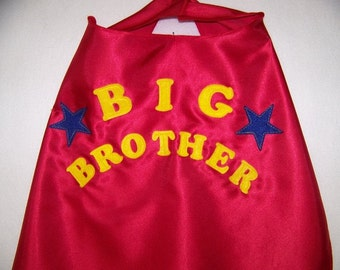 Big Brother CAPES for Children, Toddlers and infants: Single-Sided
