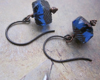 sapphire and copper - the oceana earrings