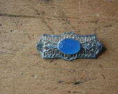 antique filigree pin ∙ CHALCEDONY
