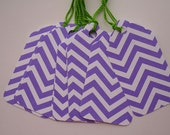 Purple and White Chevron Gift Tags (10)