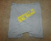 Property of the Bride Underwear ( without wedding date) Custom Colors Available