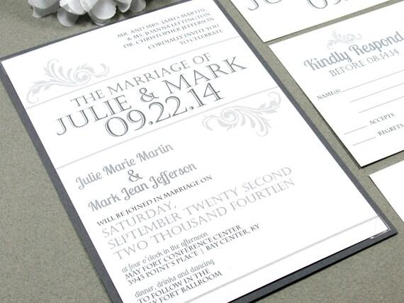 Simple Vintage Wedding Invitations
