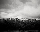 Landscape Photograph in Black and White | Snow capped mountain photography