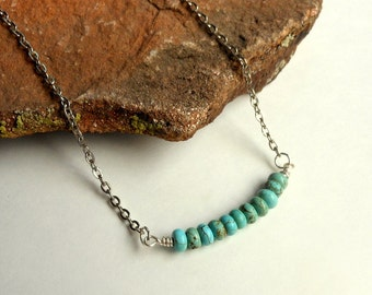 Silver Turquoise Necklace-Turquoise Jewelry