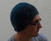 SALE ....MENS beanie  hat . A Merino wool / Alpaca blend . ' Riptide '. UK seller ..ready to ship..