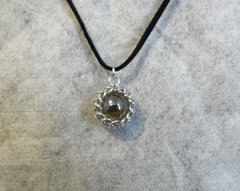 Wrapped Glass Bead Pendant