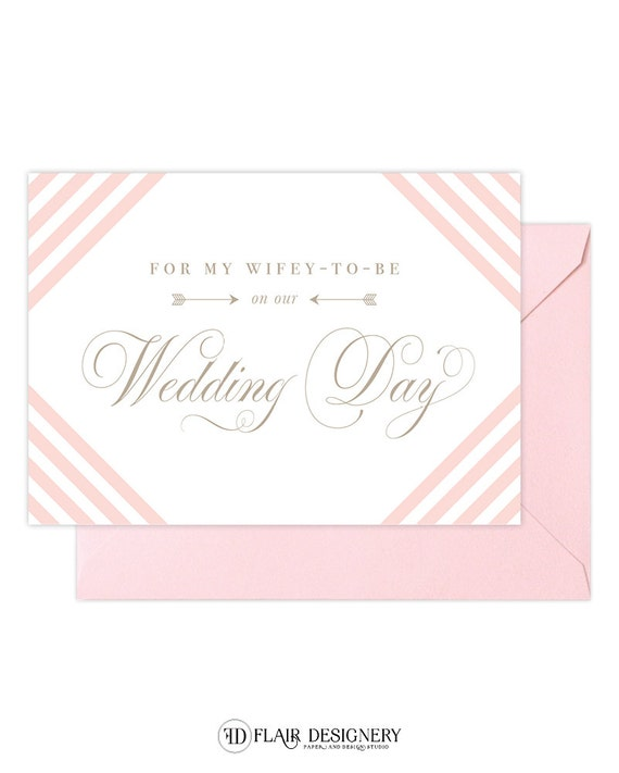 SALE!!! Wifey To Be Wedding or Engagement Card - Greeting Card by Abigail Christine Design