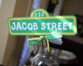 Personalized Sesame Street Sign with Your Child's Name - Perfect for Party Centerpieces Cake Topper