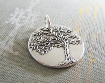 Fine Silver Tree Pendant, Artisan Handmade by SilverWishes, Original and Exclusive Design, Strength
