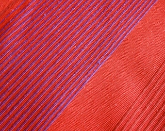Sample Vintage Upholstery Fabric Red And Purple Stripe Cotton And Linen Solberg 3 X 8 Inch Swatch Norwegian Scandinavian Modern