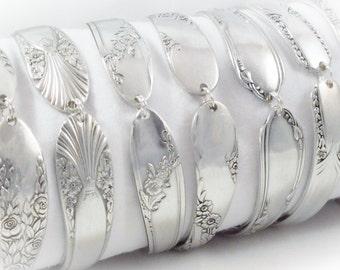 Set of  7 PERSONALIZED Bridesmaid Spoon Bracelets,  FREE ENGRAVING, Bridesmaids Gift, Spoon Jewelry, Wedding Jewelry, Vintage Wedding
