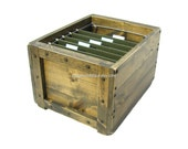 Filing Sytem Wood Crate, Wood Filing Box, Office File Storage & Organization, Custom Engraving Available