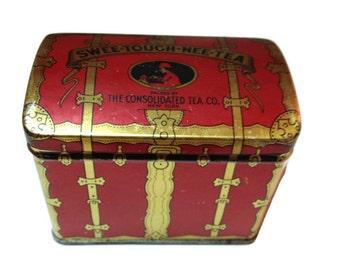 Vintage Treasure Chest Tea Tin