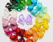 Girls Hair Bow Set Rainbow Colors Medium Hair Bows for Girls Kids Hairbows Boutique Hair Barrette Hair Clip Hair bows bow set (Set of 18)