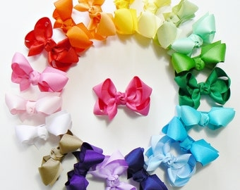 Toddler Girls Hair Bow Set Small Girls Childrens Kids Boutique  Fashion Hair Clip Hairbows Hair Accessories (Set of 20) Choose Colors