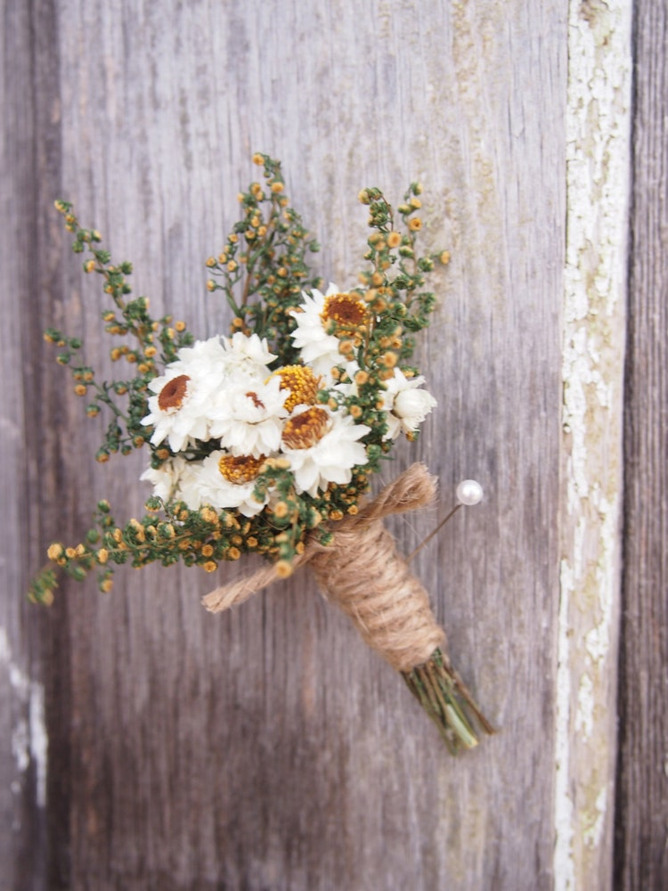 Simple COUNTRY Wedding Boutonniere Perfect for by