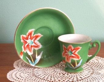 Child's Demi-Tasse Cup & Saucer - Occupied Japan