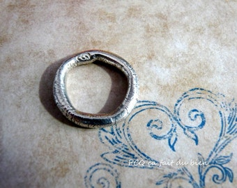 Fine silver ring band