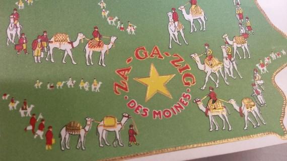 Unused Vintage Cigar Label - ZaGaZig Des Moines, Iowa - Egypt Riding Camels