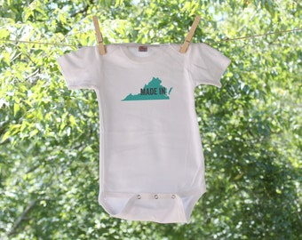 Made In // Virginia // Infant Bodysuit // graphic colors are customizable