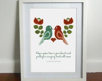 Love Birds - Instant digital download