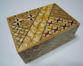 Japanese Puzzle box (Himitsu bako)- 4.5inch(115mm) Standard 14 steps Yosegi
