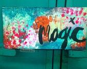 "MAGIC 12""x6"" Original Mixed Media Painting"