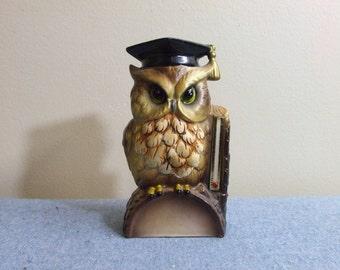 Ceramic Owl Thermometer