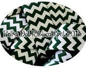 "Forest Green Chevron Ribbon 5 yards- Your size choice 3/8"", 7/8"" or 1.5""  zig zag print grosgrain ribbon- hair bow craft ribbon craft trim"