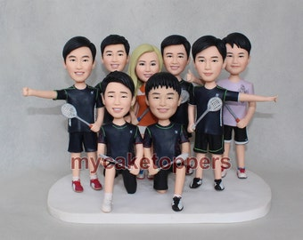 Custom made bobbleheads for the groomsmen of a wedding party Wedding party gift idea for groomsman bridesmaids Cheap gifts