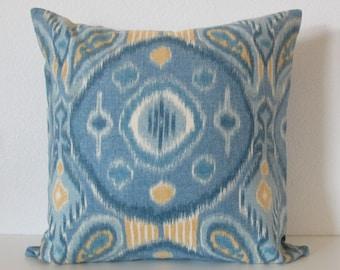 Thom Filicia Kimmel Ocean medallion blue yellow designer throw pillow cover
