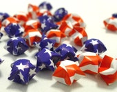 50 Flag Theme  - United States of America (2 designs in 1) - Origami Lucky Stars