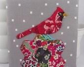 Cardinal Birdseeker. Hand Embroidery.