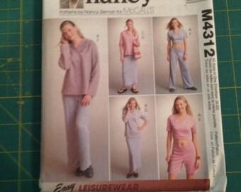 "McCall's ""Sewing with Nancy"" Women's Loungewear Pattern #M4312"