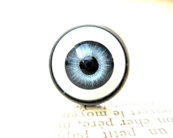 Halloween Ring,Blue EyeBall Ring, Halloween Eyeball Jewelry, Scary Jewelry, Creepy Jewelry, Creepy Ring, Halloween Gift, Trick or Treat