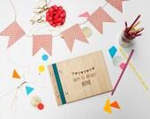 birthday book album custom wood birthday gift modern engrave // first birthday party