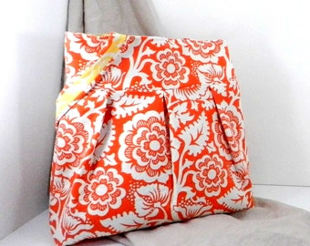 Slouch Bag, Orange and White, Shopping Bag, Joel Dewberry, Heirloom Fabric, Large Purse, Handmade Accessory, Handmade Bag, Large Tote Bag