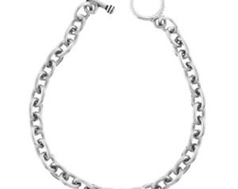 Sterling Silver Plate Bracelet With Toggle Closure - Create Your Own Charm Bracelet By Inspired Jewelry Designs