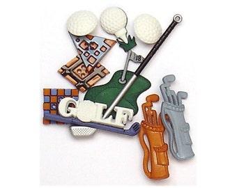 Jesse James Buttons Golf Golfing Balls Bags Clubs