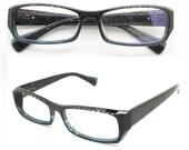 Deep blue   handmade acetate  TAKE BY TAKEMOTO  glasses  with prescription lenses