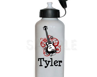 Boys Guitar Water Bottle