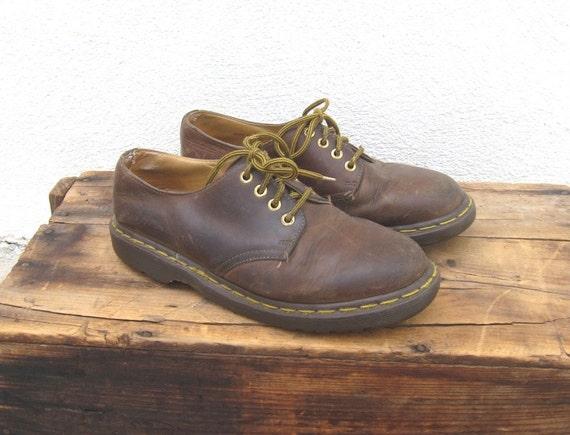 Vintage Distressed Dr Martens  Brown Nubuck  Brogues Mens Size 8, Ladies 10