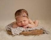 Dove Grey Handspun Merino Blanket - Photo Prop