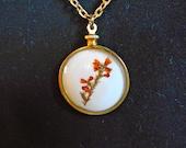 Vintage Pressed Flower Necklace real Flower Necklace long necklace Flower Cherry Blossom Necklace Dried flower Necklace Blossom Necklace