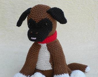 Crochet patterns Boxer puppy, Bouvier pup - Haakpatroon Boxer puppy, Bouvier pup