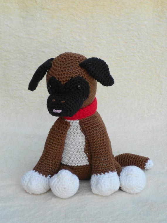 Patron de ganchillo perrito Boxer perrito Bouvier
