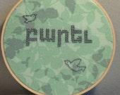 Parev (Hello)- Armenian Language Embroidery Hoop Art